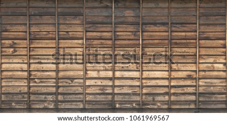 wood planks overlapping tiled #1061969567