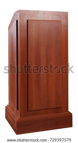 Wood Podium Tribune Rostrum Stand #729397579