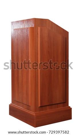 Wood Podium Tribune Rostrum Stand #729397582