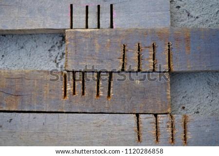 Wood rod trace #1120286858