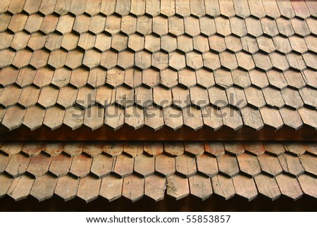 Wood roof texture