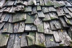 Wood roofing pattern detail  in Korea rural area.