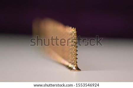 Wood screws yellow shinyWood screws yellow shiny countersunk