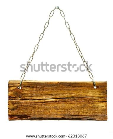 Wood sign - stock photo