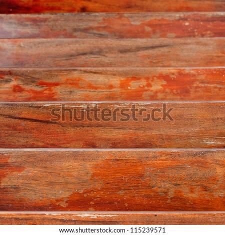 Wood stair.