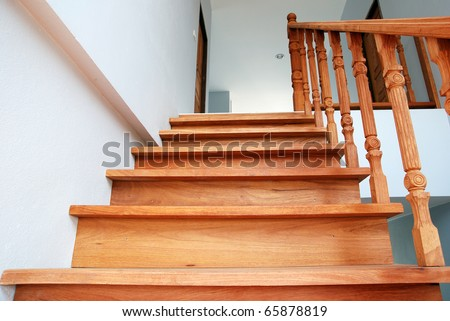 Wood stair.