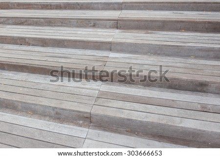 Wood stair in close up