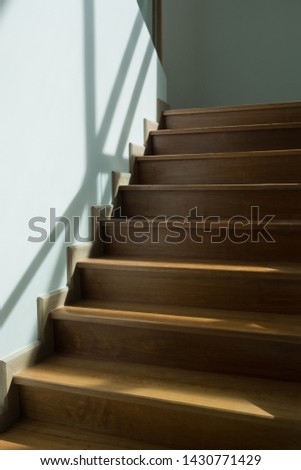 wood staircase, mile stone floor  #1430771429