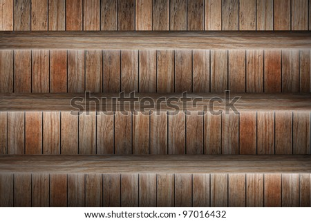 wood stairs. grunge industrial interior Uneven diffuse lighting version. Design component