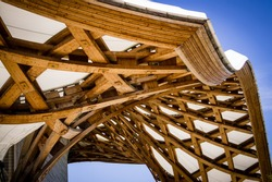 Wood Structure from the Centre Pompidou in Metz, France