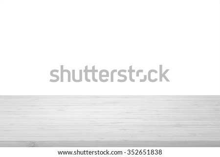 Wood table top texture in light natural white grey color tone isolated on white background: Wooden tabletop textured pattern backdrop in gray  toned colour for interior/ product display