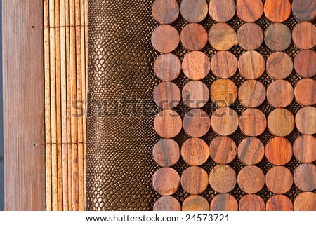 wood texture and snake skin