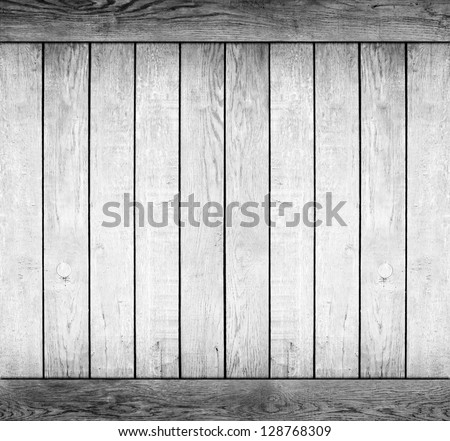 wood texture. background old panels. black and white
