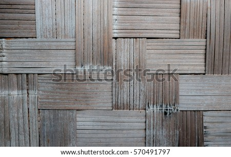 Wood texture by art of craft, Rattan woven board, background material, graphic material, background material. #570491797