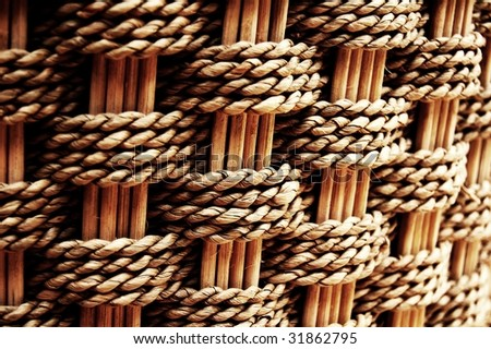 Wood texture of a wicker basket