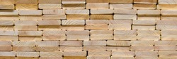 Wood texture.Stack of wood planks on lumber yard. lumber industrial wood texture timber.