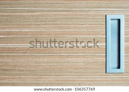 Wood texture with sliding door handle