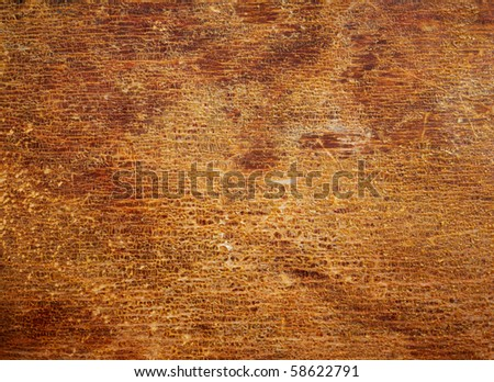 Wood texture with the old cracked varnish surface. Abstract design background. - stock photo