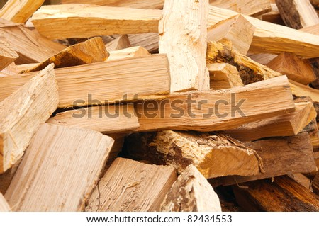 Wood texture - wood prepared for winter