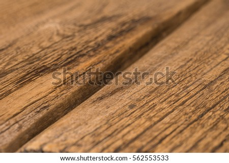 Wood Texture, Wooden Plank Grain Background, Desk In Perspective Close Up,  Striped Timber