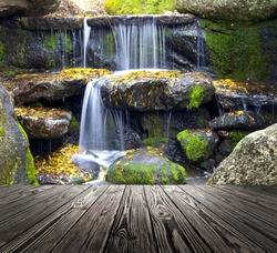 wood textured backgrounds in a room interior on the waterfallt backgrounds
