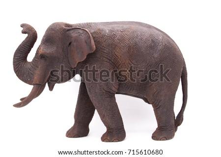 wood thai elephant Stock fotó ©