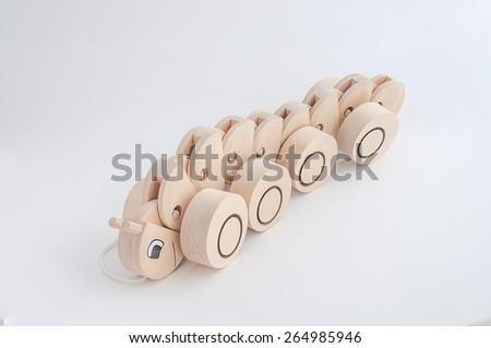 Wood Toy on White Background