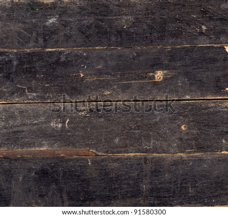 Wood vintage background of black painted plank