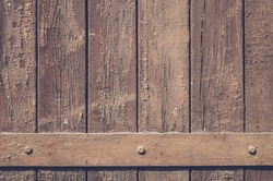 wood wall background with metal border