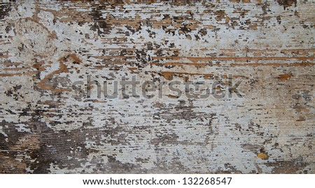 Wood & White Peeling Paint Background - Shabby Chic! #132268547