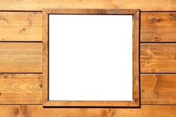 Wood window wall with square copyspace copy space