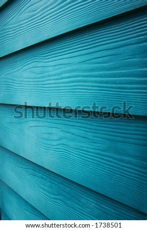 wood with blue stain