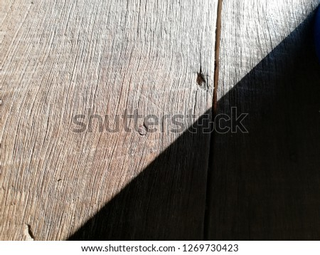 wood with half shadow pattern background/abstract #1269730423
