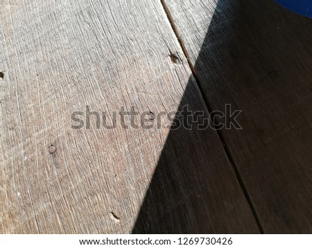 wood with half shadow pattern background/abstract #1269730426