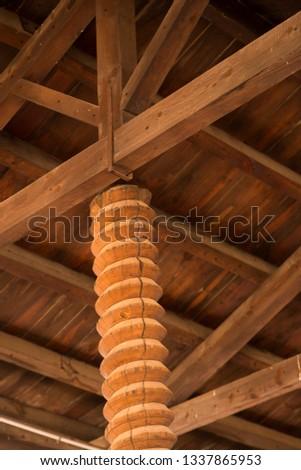 Wood work in Spain.