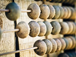wooden abacus as a background