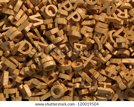 wooden alphabet background