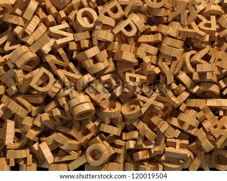 wooden alphabet background