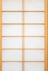 Wooden and paper wall of Japan