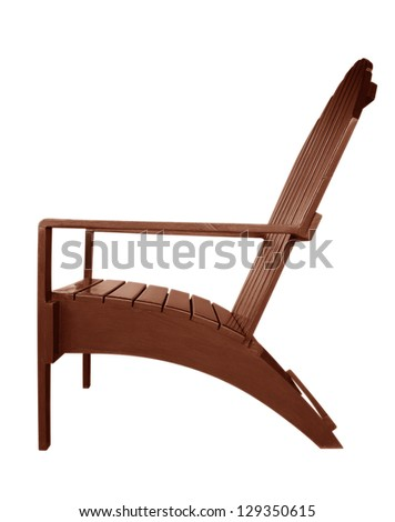 Wooden armchair isolated on white. Clipping path included.