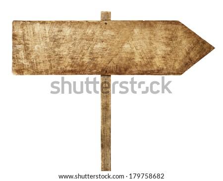Wooden Arrow Sign #179758682