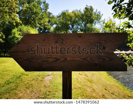 Wooden arrow (track blank, cursor,  road sign) with space for text #1478391062