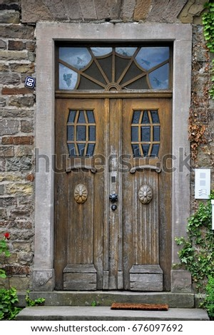 wooden art noveau door