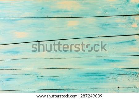 Wooden background, blue wooden board