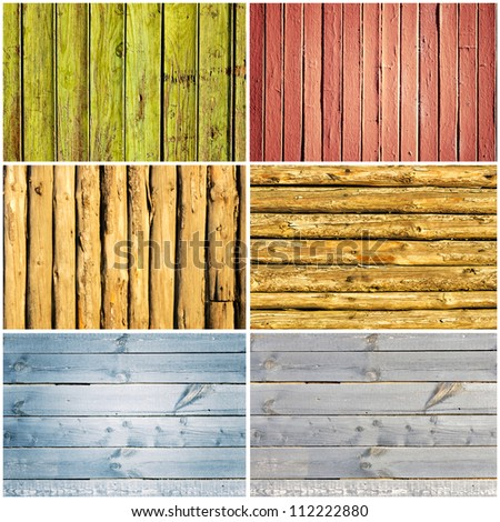 Wooden background collage