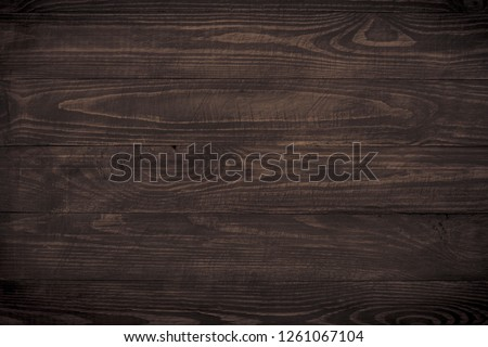 Wooden background. Dark wooden texture empty horizontal surface. Space for design.