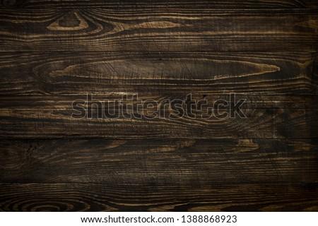 Wooden background. Dark wooden texture empty horizontal surface. Space for design.