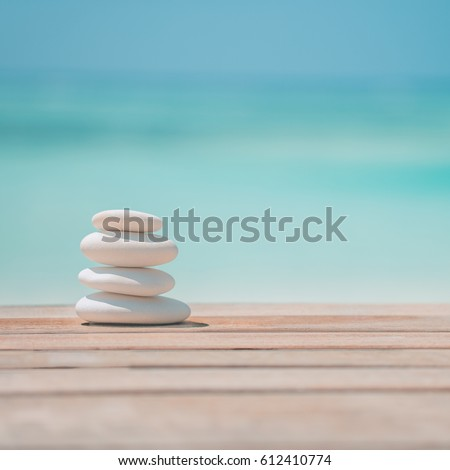 Wooden background for zen stones, inspire and daydreaming concept