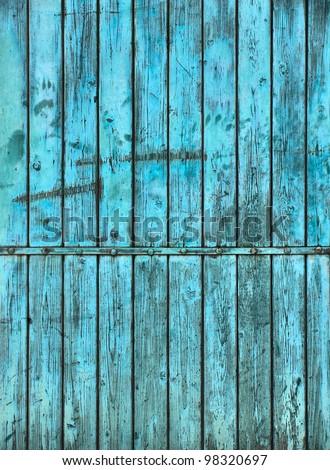 Wooden background in blue / Background / Blue background