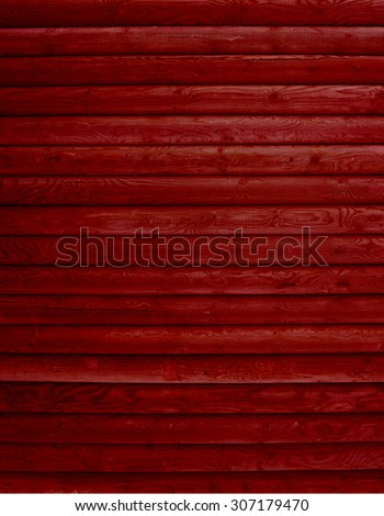 Wooden background of many red boards